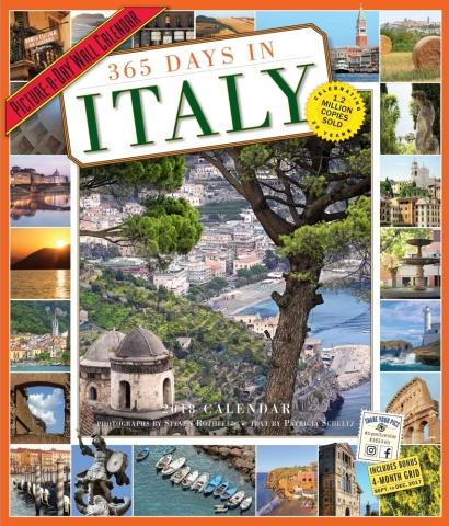 Calendario 365 giorni in Italia, ogni giorno una foto. Acquista questo calendario