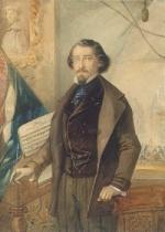 Ritratto di Michele Novaro, autore della musica dell'inno nazionale italiano