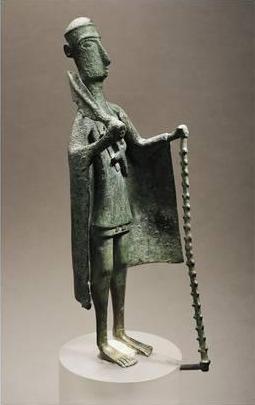 Statuetta di bronzo preistorica. Museo archeologico, Cagliari. Acquista questo poster